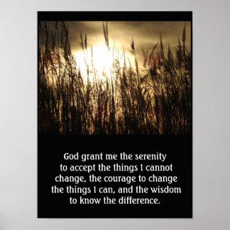 Grant mim serenidade - impressão da arte da oração