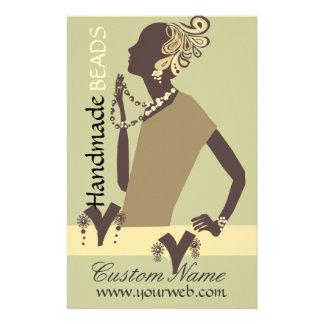 Grânulo moderno da mulher do modelo da jóia da flyer 13.97 x 21.59cm