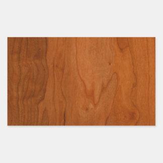 Grão da madeira do MED Adesivo Retangular
