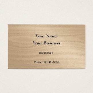 Grão da madeira do trabalhador manual da cartão de visitas