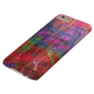 Grão de madeira #6 do vintage abstrato colorido capas iPhone 6 plus barely there