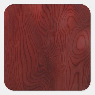 Grão de madeira escura adesivo quadrado