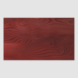 Grão de madeira escura adesivo retangular