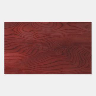 Grão de madeira escura adesivos em forma retangular