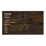 Grão de madeira, folha da madeira resistida cartões de visitas
