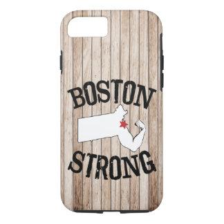 Grão de madeira forte de Boston Capa iPhone 7