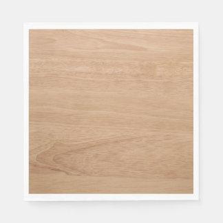 Grão de madeira guardanapo de papel