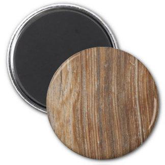 Grão de madeira ímã redondo 5.08cm