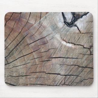Grão de madeira rachada Mousepad