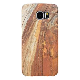 Grão natural da madeira do cedro capas samsung galaxy s6