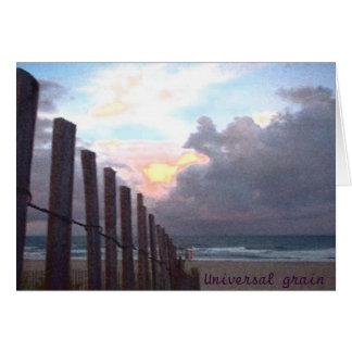 Grão universal cartão comemorativo