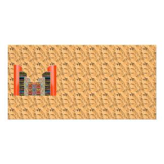 Graplhic dourado de brilho n NumberONE AAA Cartão Com Foto