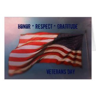 Cartão Gratitude do respeito da honra - obrigado cartão