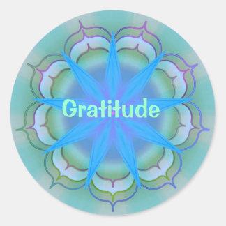 Gratitude (etiqueta da virtude) adesivo