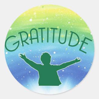 Gratitude inspirada adesivo
