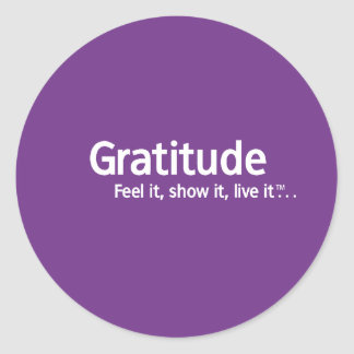 Gratitude - pensamento Shapers™ Adesivo