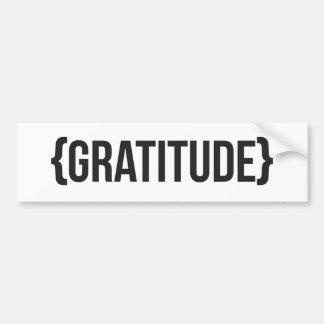 Gratitude - suportada - preto e branco adesivo para carro