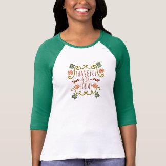 Grato para a camisa do Raglan da acção de graças |