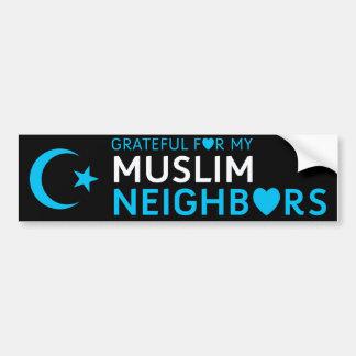 Grato para meus vizinhos muçulmanos adesivo para carro