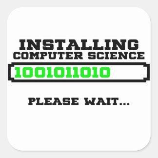 grau da informática adesivo quadrado