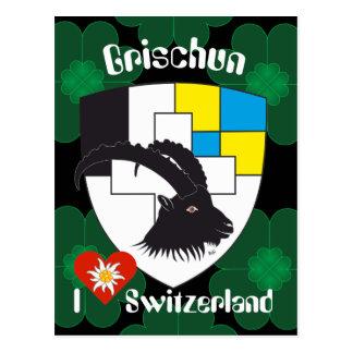 Graubünden Grischun Suíça Suisse cartão postal