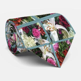Gravata 15o Teste padrão; Flores da janela