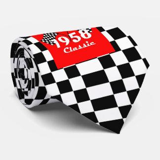 Gravata 1958 bandeiras pretas & branco verificadas