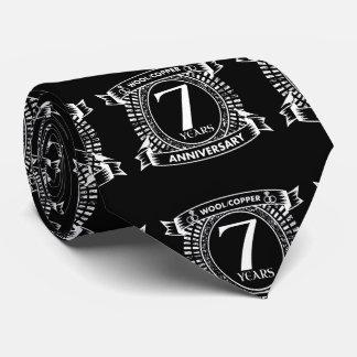 Gravata 7o cobre de lãs do aniversário de casamento