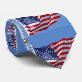 Gravata A bandeira dos EUA Stars as listras patrióticas