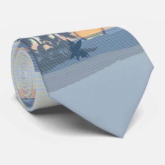 Gravata A ilha havaiana do por do sol grande