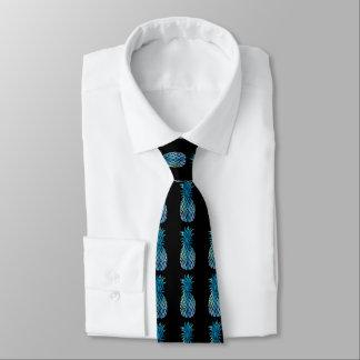 Gravata abacaxis azuis em algum fundo da cor