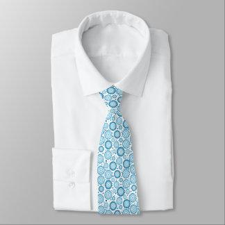 Gravata Abstrato torrado azul e do branco