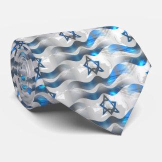 Gravata Acene sua bandeira israelita
