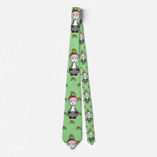 Gravata alpaca do papai noel do Natal
