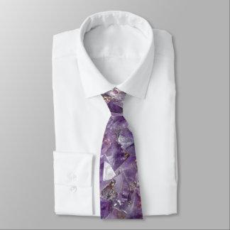 Gravata ametista brilhante do lilac