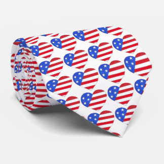Gravata Amor EUA laço patriótico da bandeira americana do