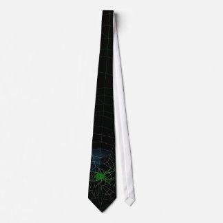Gravata Aranha verde na Web, webbing