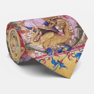 Gravata Arcanjo de St Michael e floral antigo do dragão