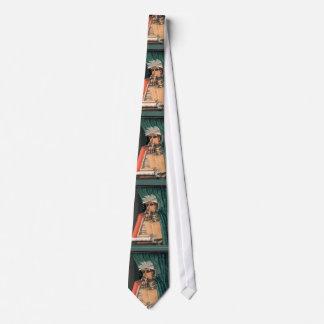 Gravata Arcimboldo - bibliotecário - imaginativo original