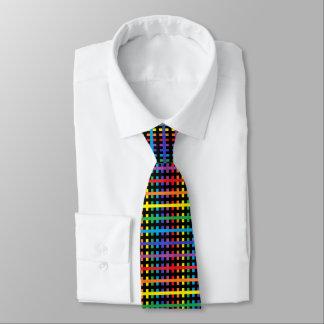 Gravata Arco-íris abstrato e preto