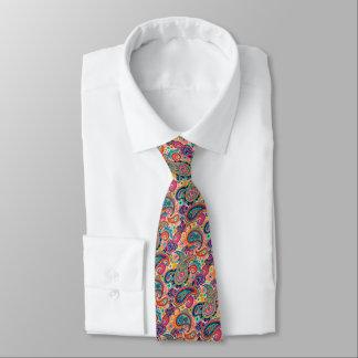 Gravata Arco-íris brilhante Paisley