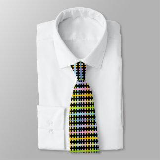 Gravata Arco-íris Pastel abstrato e preto