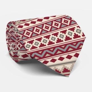 Gravata Areia de creme dos cinzas vermelhos astecas do Rpt