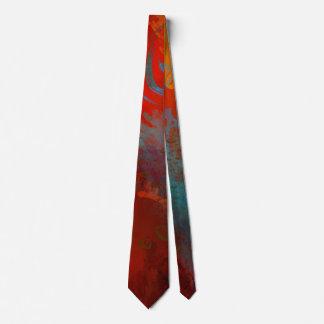 Gravata Arte abstracta de Digitas do Grunge do vermelho,