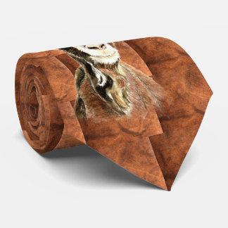 Gravata Arte do teste padrão do animal de fazenda da cabra