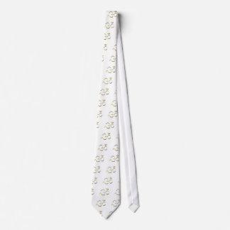 Gravata Arte famosa da forma do símbolo do OM na camisa do