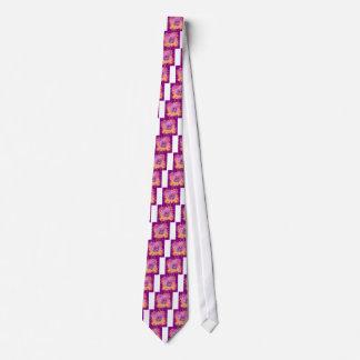 Gravata arte floral roxa da peônia cor-de-rosa
