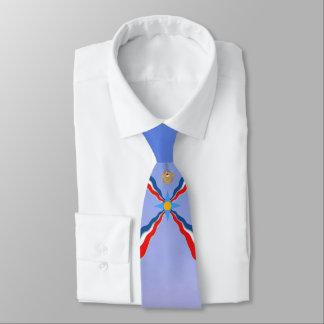 Gravata Assyrian 1 da bandeira
