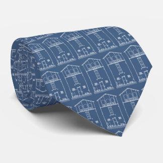 Gravata Azuis marinhos modernos do modelo | da casa