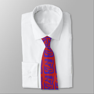 Gravata azul abstrato pulverizador-pintado no vermelho